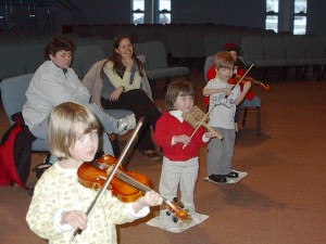Suzuki Violin Studio NH Group lesson 1999