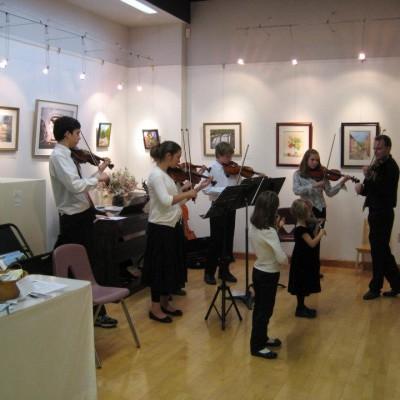 Suzuki Violin Studio NHTwinkes at the art gallery 2011 2